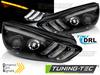 Ford Focus MK3 Facelift 15-18 Фары с бегающим поворотником черные