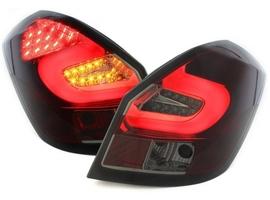 Skoda Fabia 5J 07-14 Фонари светодиодные, красно-тонированные lightbar