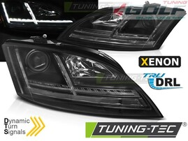 Audi TT 8J 06-10 Фары lightbar design черные под ксенон