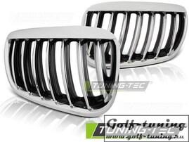 BMW X5 E53 03-06 Решетки радиатора (ноздри) хром