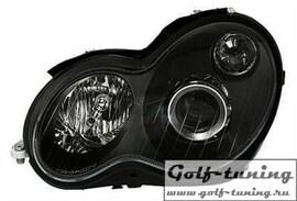 Mercedes C203 Coupe 00-04 Фары с линзами черные