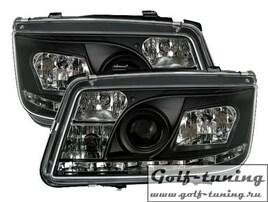 VW Bora Фары Devil eyes, Dayline черные