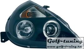 Ford KA 97- Фары с линзами и ангельскими глазками черные
