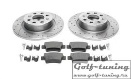 Fiat Punto Комплект спортивных тормозных дисков и колодок