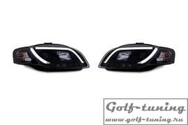 Audi A4 B7 04-08 Фары Lightbar design черные