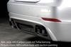 BMW E60 08-11 Седан Накладка на задний бампер/диффузор черная