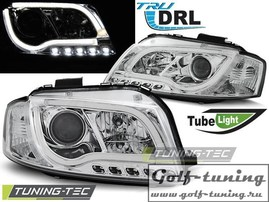 Audi A3 8P 03-08 Фары LED TUBE LIGHTS хром