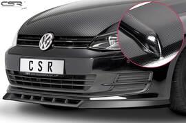 VW Golf 7 12-17 Накладка на передний бампер Carbon look