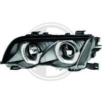 BMW E46 4Дв 98-01 Фары с 3D ангельскими глазками черные