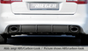 Audi A6 4F 08-11 Седан/Универсал Диффузор для заднего бампера черный