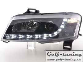 Fiat Stilo 01-07 Фары Devil eyes, Dayline черные