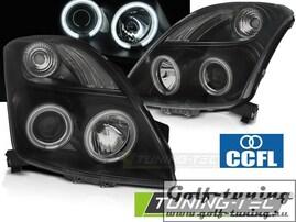 Suzuki Swift 05-10 Фары CCFL Angel eyes черные