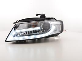 Audi A4 08- Фары с LED габаритами хром