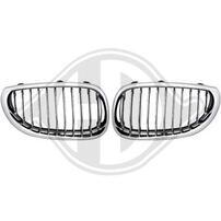 BMW E60/E61 03-07 Решетки радиатора (ноздри) хром