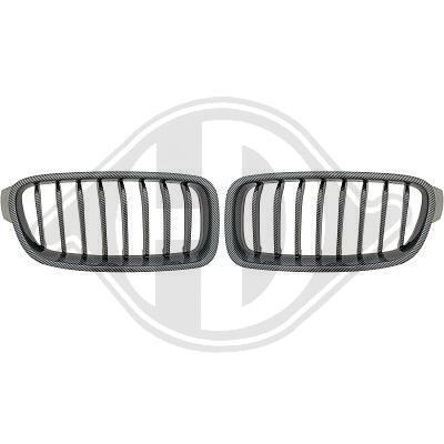 BMW F30 11-15 Решетки радиатора (ноздри) carbon look