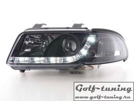 Audi A4 B5 99-01 Фары Devil eyes, Dayline хром