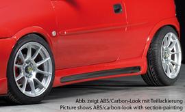 Opel Corsa B 3Дв Накладки на пороги carbon look