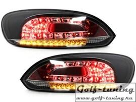 VW Scirocco 08-14 Фонари светодиодные, черные с светодиодным поворотником