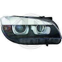 BMW X1 E84 11-14 Фары с линзами и 3D ангельскими глазками под галоген черные