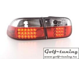Honda Civic 92-95 2/4D Фонари светодиодные, красно-белые