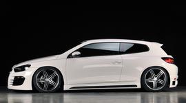 VW Scirocco 3 08- Накладки на пороги Carbon Look