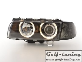 BMW E38 95-98 Фары с линзами и ангельскими глазками черные xenon conversion kit