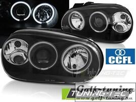 VW Golf 4 Фары CCFL ANGEL EYES черные