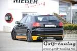 Audi A3 8P 08-12 3Дв Диффузор для заднего бампера carbon look