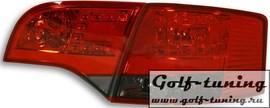 Audi A4 B7 04-08 Универсал Фонари светодиодные, краснo-тонированные