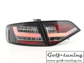 Audi A4 B8 07-11 Седан Фонари светодиодные, черные Lightbar design