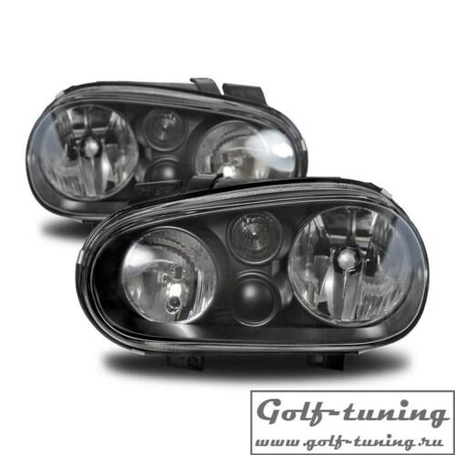 VW Golf 4 Фары черные с ПТФ