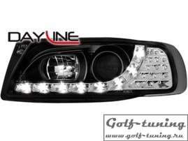 Seat Ibiza 6K, Cordoba 95-99 Фары Devil eyes, Dayline черные с светодиодным поворотником