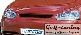VW Golf 5 Решетка радиатора без значка с сеткой
