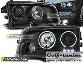 Dodge Charger LX 06-10 Фары Angel eyes черные