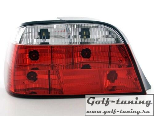 BMW E38 Фонари красно-белые