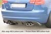 Audi A3 8P 3D 08-12 Диффузор для заднего бампера черный