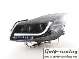 Opel Insignia 08-13 Фары Devil eyes, Dayline черные Lightbar Design