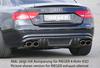 Audi A5 B8/B81 07-11 S-Line Sportback Накладка на задний бампер/диффузор Carbon Look