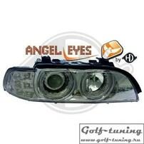 BMW E39 95-00 Фары с ангельскими глазками и линзами хром