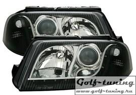 VW Passat B5+ Фары Devil eyes, Dayline черные
