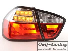 BMW E90 05-08 Седан Фонари светодиодные, красно-белые