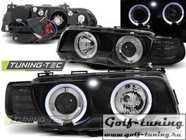 BMW E38 98-01 Фары Angel Eyes под ксенон черные