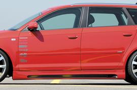 Audi A3 8P Sportback 03-12 5Дв Накладки на пороги Carbon Look