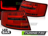 AUDI A6 C6 Седан 04-08 Фонари led bar красно-тонированные