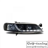 Opel Vectra B 99-02 Фары Devil eyes, Dayline черные