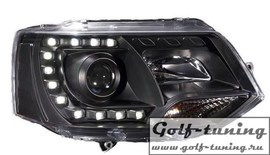 VW T5 GP 09-15 Фары Devil eyes, Dayline черные 2273785