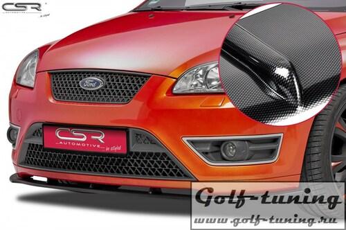 Ford Focus 2 ST 04-08 Накладка на передний бампер Cupspoilerlippe carbon look