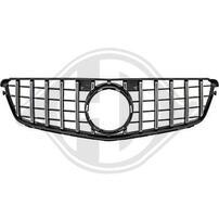 Mercedes W204 07-11 Решетка радиатора с хром полосками