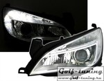 Opel Astra J 5Дв 09-15 Фары Devil eyes, Dayline хром