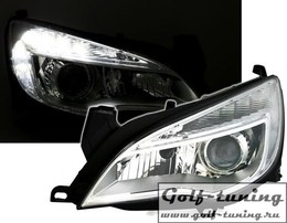 Opel Astra J Фары Devil eyes, Dayline хром